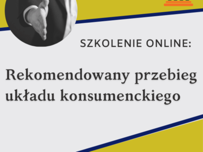 Szkolenie online: Rekomendowany przebieg układu konsumenckiego