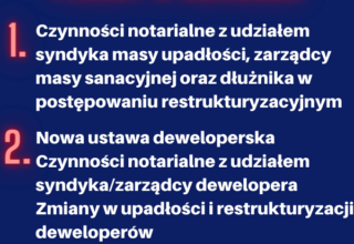 Pakiet dwóch szkoleń dla notariuszy oraz doradców restrukturyzacyjnych